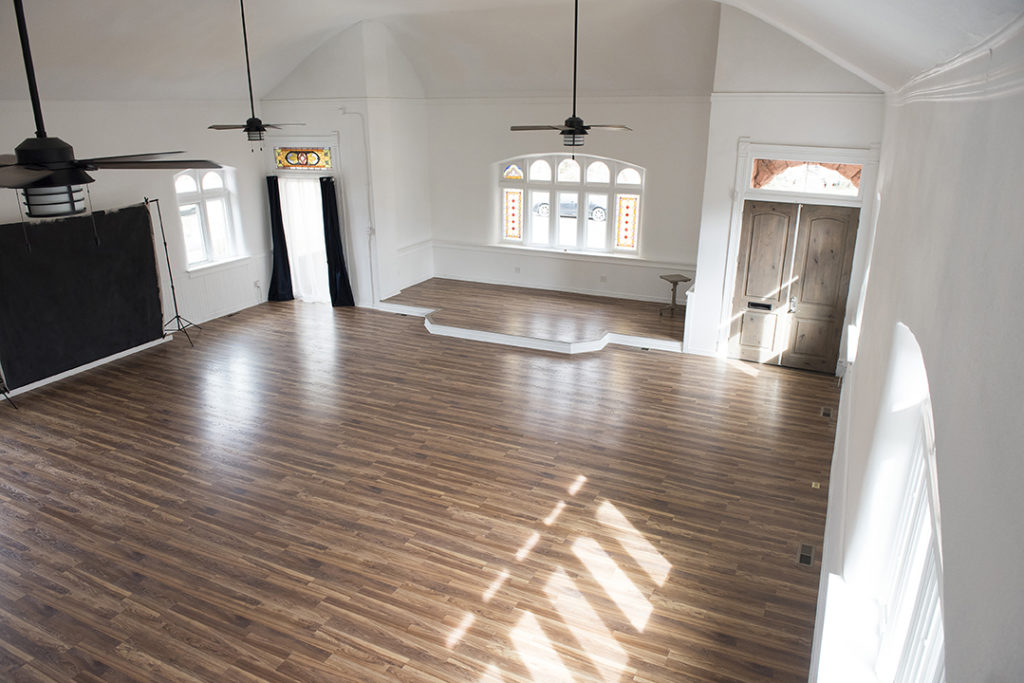 Over 1000 sq ft on the main floor.